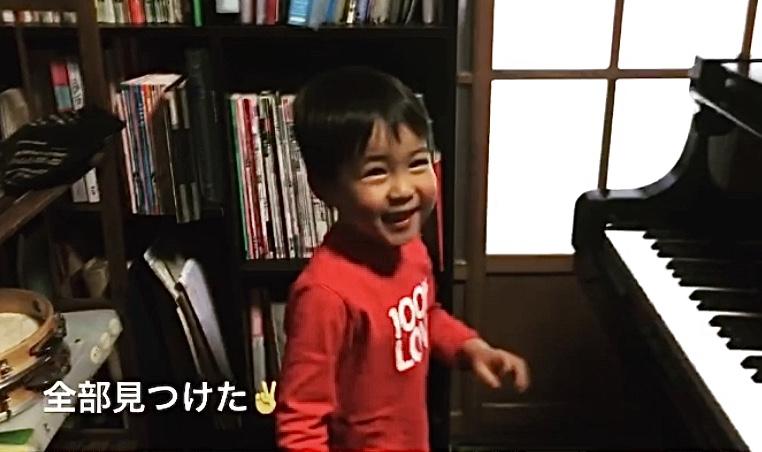 4歳の男の子、ピアノたんけん!