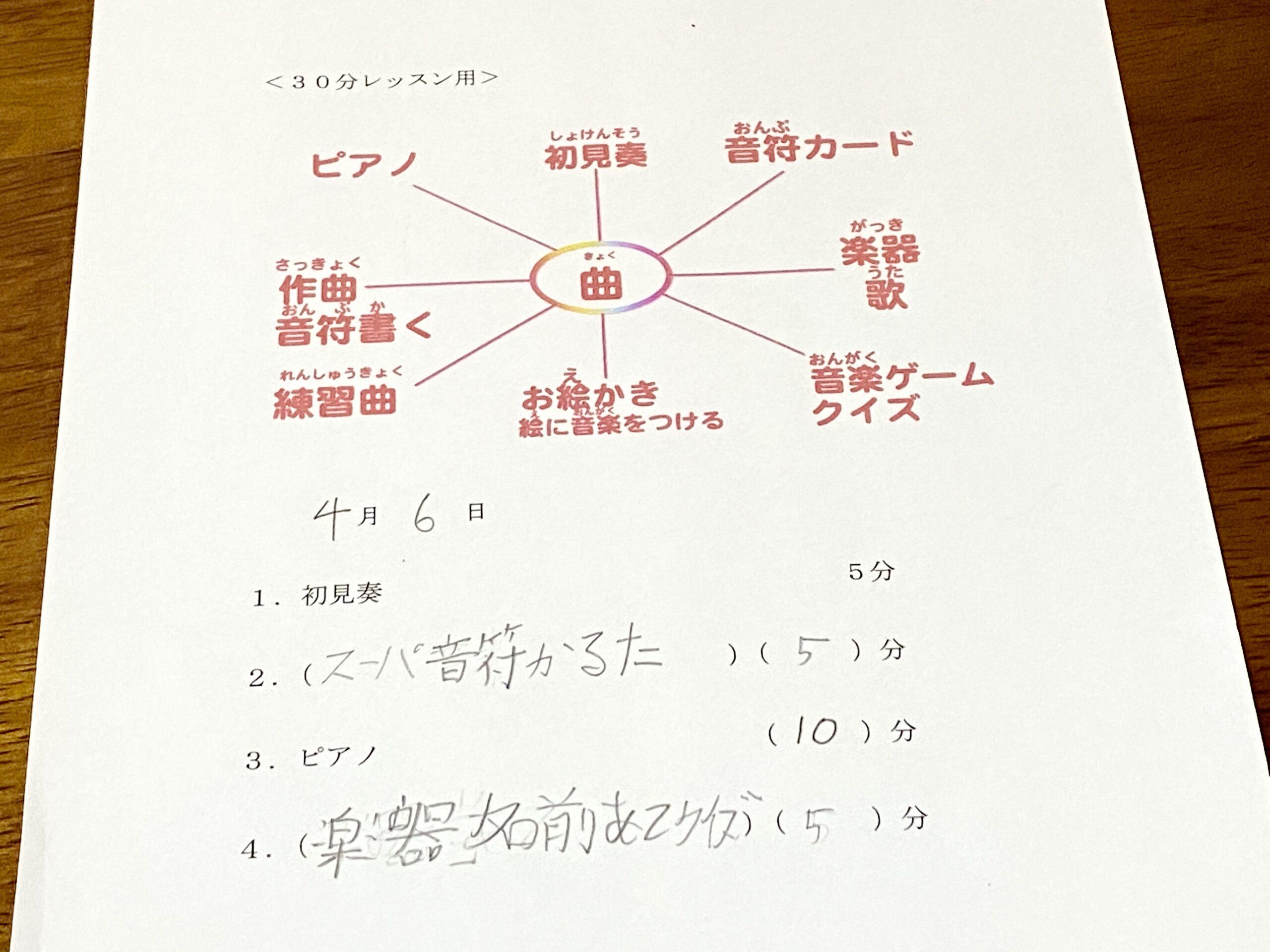 <No.120>自由へのレッスン②生徒さんが「時間割」をつくる